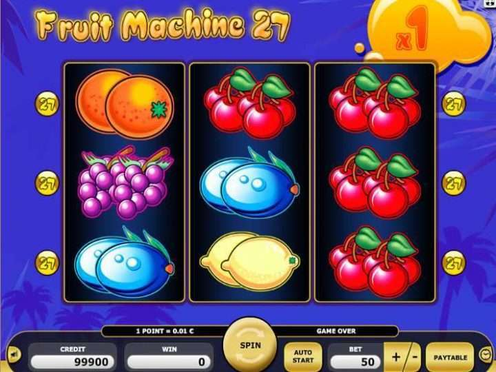 Play Fruit Machine Games
